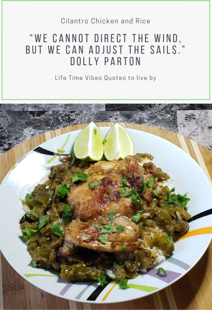 Cilantro Chicken And Rice With Bell Pepper Lime Life Time Vibes